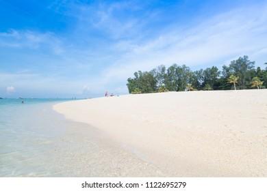 View of Tropical white sand at Mountain beach, Lipe Island, Thailand.