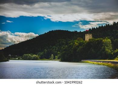 View to Tropsztyn Castle, South of Poland