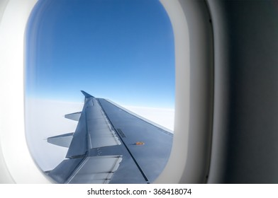 View trough airplane window
