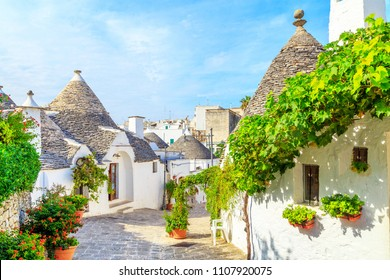 View of Trulli houses in Alberobello, Italy