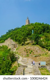 View of Tsarevets fortress over Veliko Tarnovo in Bulgaria