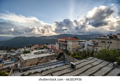 View of Tsefat (Safed), Western Galilee, Israel, spring