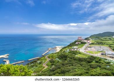View from Tsugaru Peninsula, Aomori prefecture, Japan