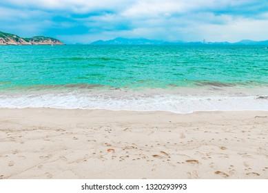View of Tung Wan Beach in Cheung Chau Island, Hong Kong, China.