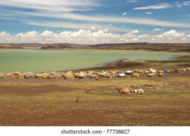 View of Turkana Village, Kenya