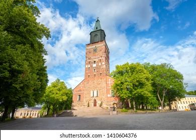 View of Turku Cathedral in Turku. Finland, Scandinavia
