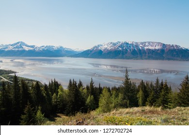 View of Turnagain Arm from Bird Ridge, Alaska