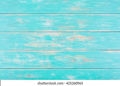 View of turquoise wooden background