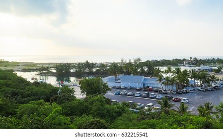View of Turtle Cove Marina, in Providenciales, Turks and Caicos.