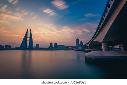A view to Twin Tower Bahrain