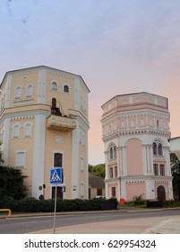 View of the Two Old towers in Grodno, Belarus