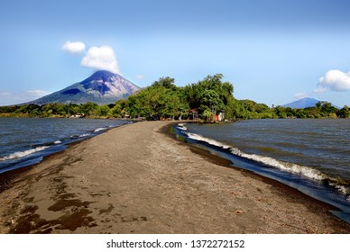 View of two volcanoes on the Ometepe Island, Nicaragua