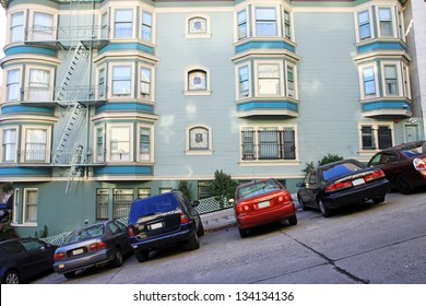 A view of a typical San Francisco road, Usa