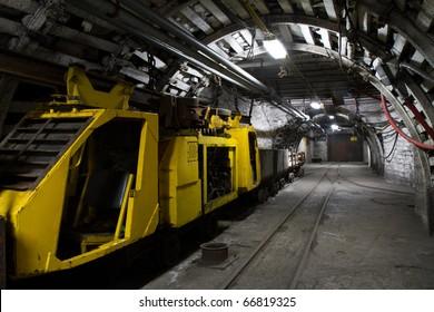 View of underground mine