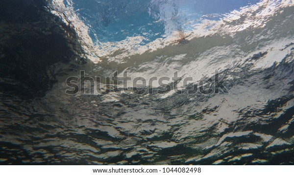View from underwater looking upwards