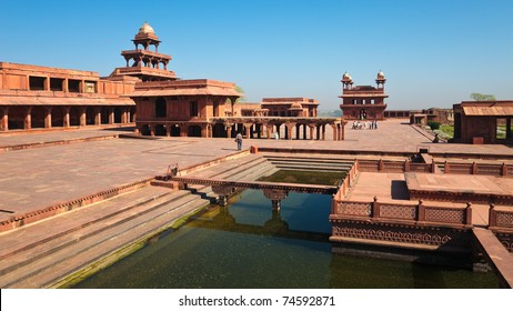 View of UNESCO World Heritage site Fatehpur Sikri, India.