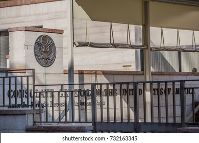 A view of the United State Consulate General in Istanbul, Turkey, 11 October 2017. United States and Turkey mutually suspended visa services.