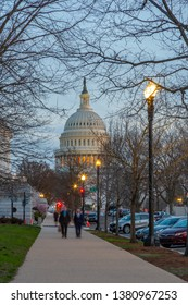 View of the United States Capitol Building at dusk, Washington D.C., United States of America, North America 21-3-2019