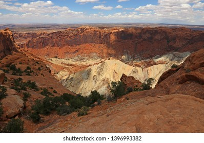 A view of the Upheaval Dome from the rim, shot in Canyonlands National Park, Utah.