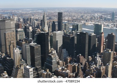 view upon empire state building