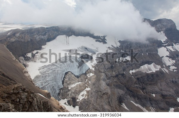 View upon a glacier in the Swiss Apls