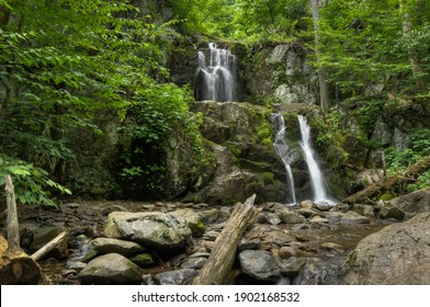 View to the upper doyles river falls  in Shenandoah National Park Virginia, United States