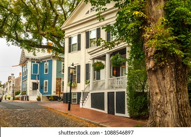 A view of upper Main Street, Nantucket, MA