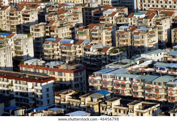 view of urban housing in fujian province, China