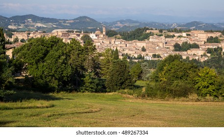 view of Urbino in a summer day. Marche, Italy