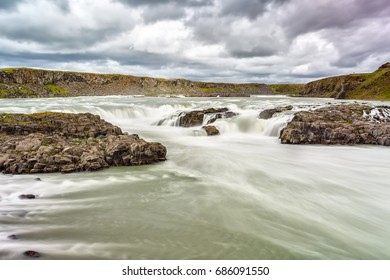 View of Urridafoss waterfall in Iceland