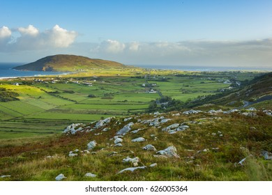 View of Urris/Dunaff from Mamore Gap, Clonmany, Co. Donegal.