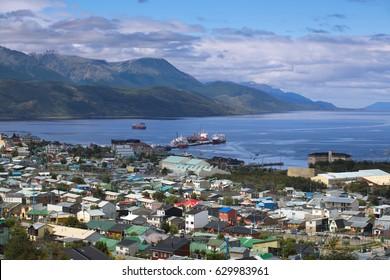 A view of Ushuaia, Tierra del Fuego, Argentina