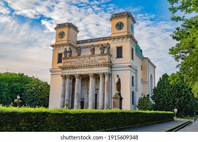View of the Vac Cathedral.The Assumption Cathedral serves as the cathedral of the Diocese of Vac.This baroque church is one of the biggest cathedral in Hungary.