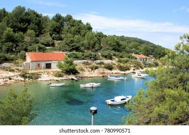 view in Valdarke, island Losinj, Croatia