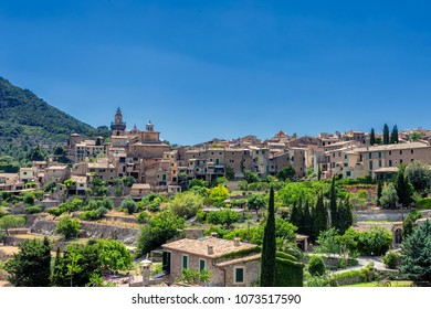 View of Valdemossa - old town in mountains of Mallorca island