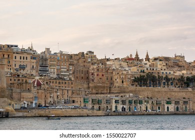 View at Valetta in Malta from three cities
