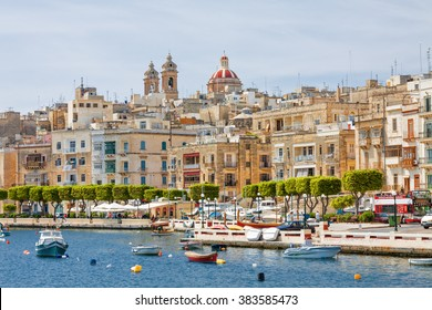 View of Valletta from board of yacht, Malta.