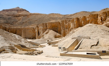 A view of the Valley of the Kings in Luxor, Egypt