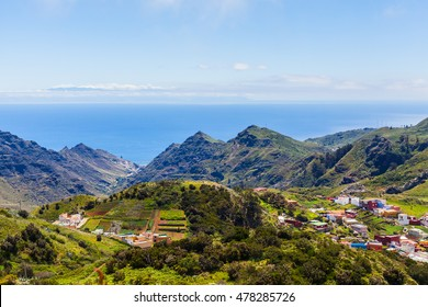 view of the valley in the mountains of Tenerife