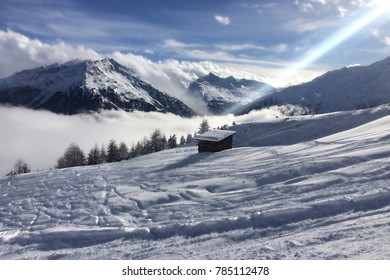 View of the valley Oetztal in Austria