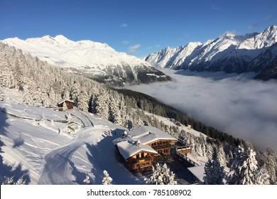 View of the valley Oetztal by Sölden in Tirol Austria