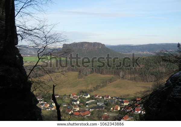 the view to the valley, saxon switzerland