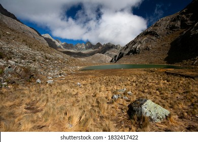 View of a valley in Sierra Nevada National Park, in the venezuelan Andes mountains