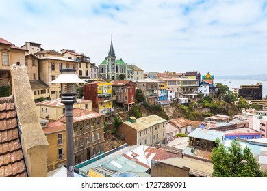 View of Valparaiso and its architecture, in Chile