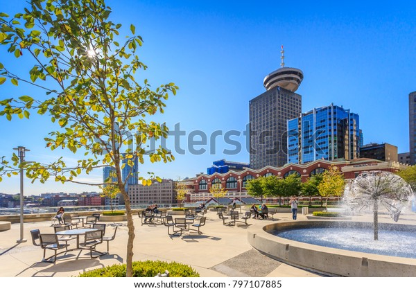 View of Vancouver Lookout Tower, Vancouver, British Columbia, Canada, North America 12 September 2017