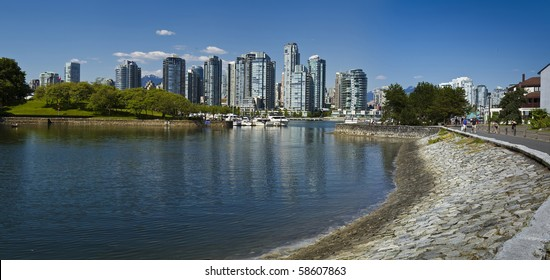 A view of Vancouver from the seawall