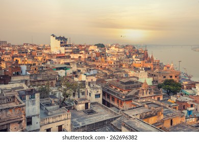 A view of Varanasi and ganga river