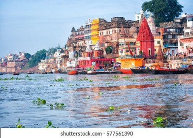 View of Varanasi from Ganges river