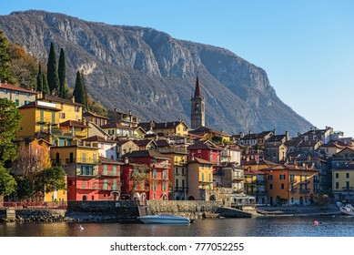 View of Varenna town one of the small beautiful towns on Como lake, Lombardy, Italy