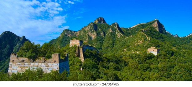 view of the vast areas surrounding the great chinese wall.